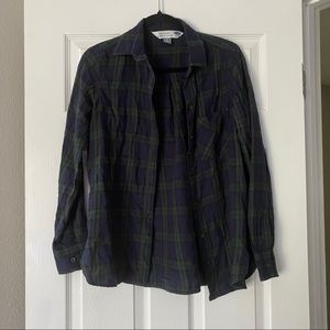 Old Navy Women's Classic Plaid Button-Down